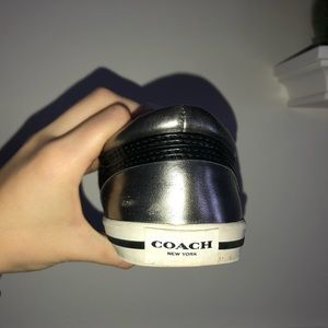 Black and Silver Authentic Coach Sneakers